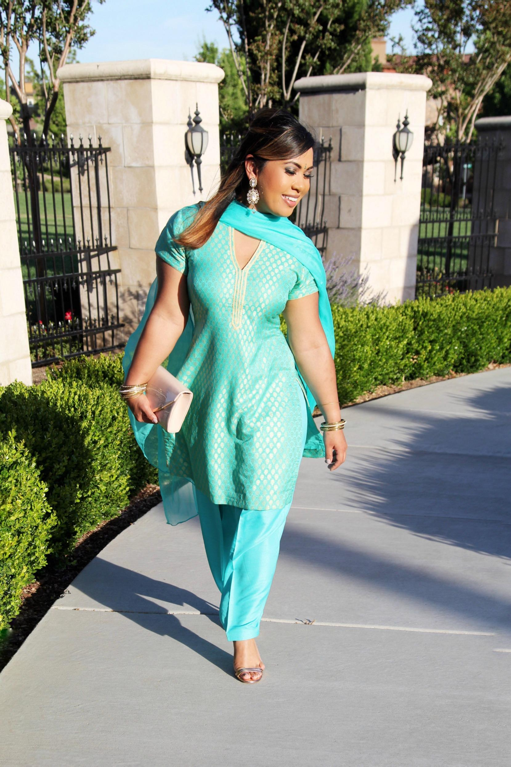 Indian Wedding Day 1 - Mehndi Night Outfit