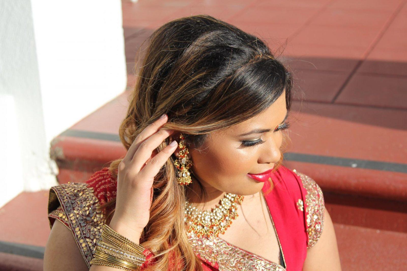 Indian Wedding Gujarati Styled Sari | Garba Night Outfit