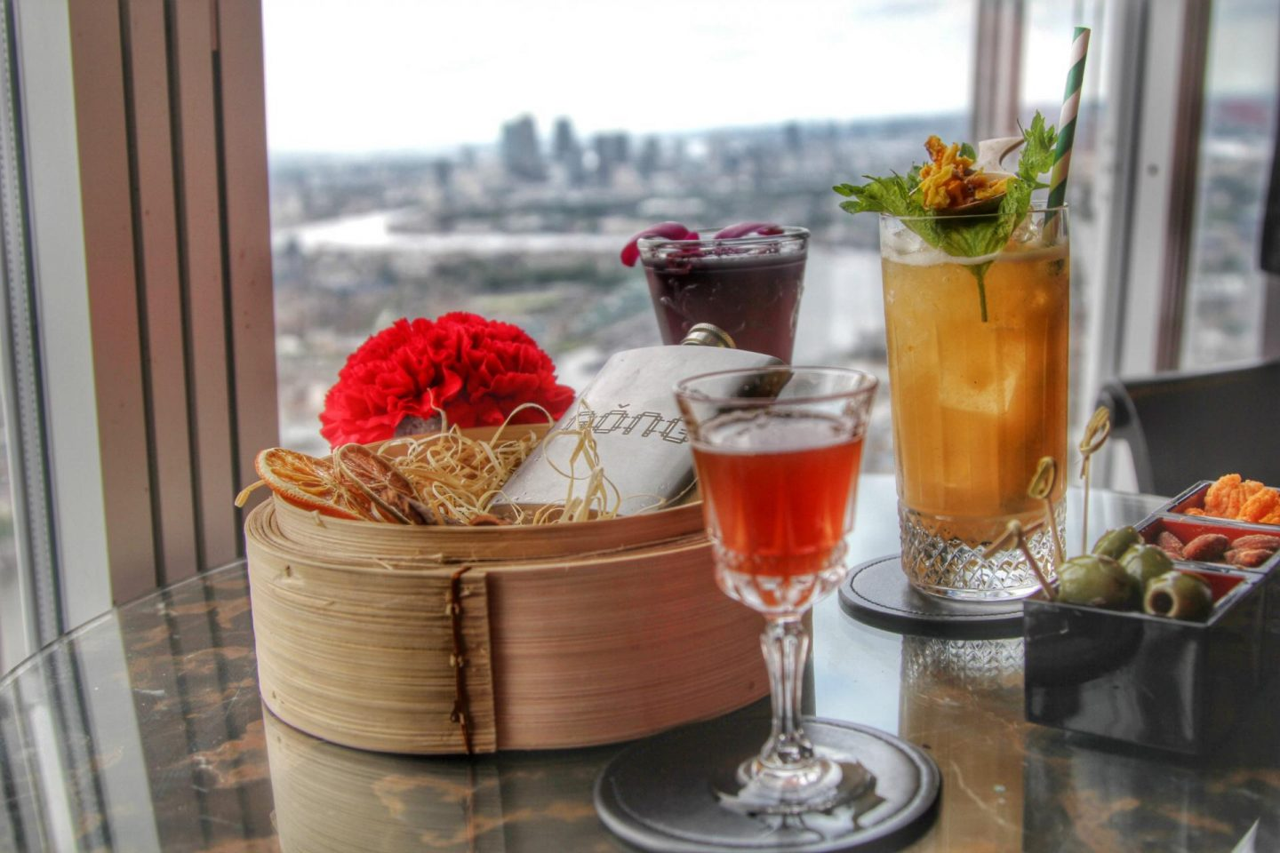Cocktails in the sky | The view from the Shard