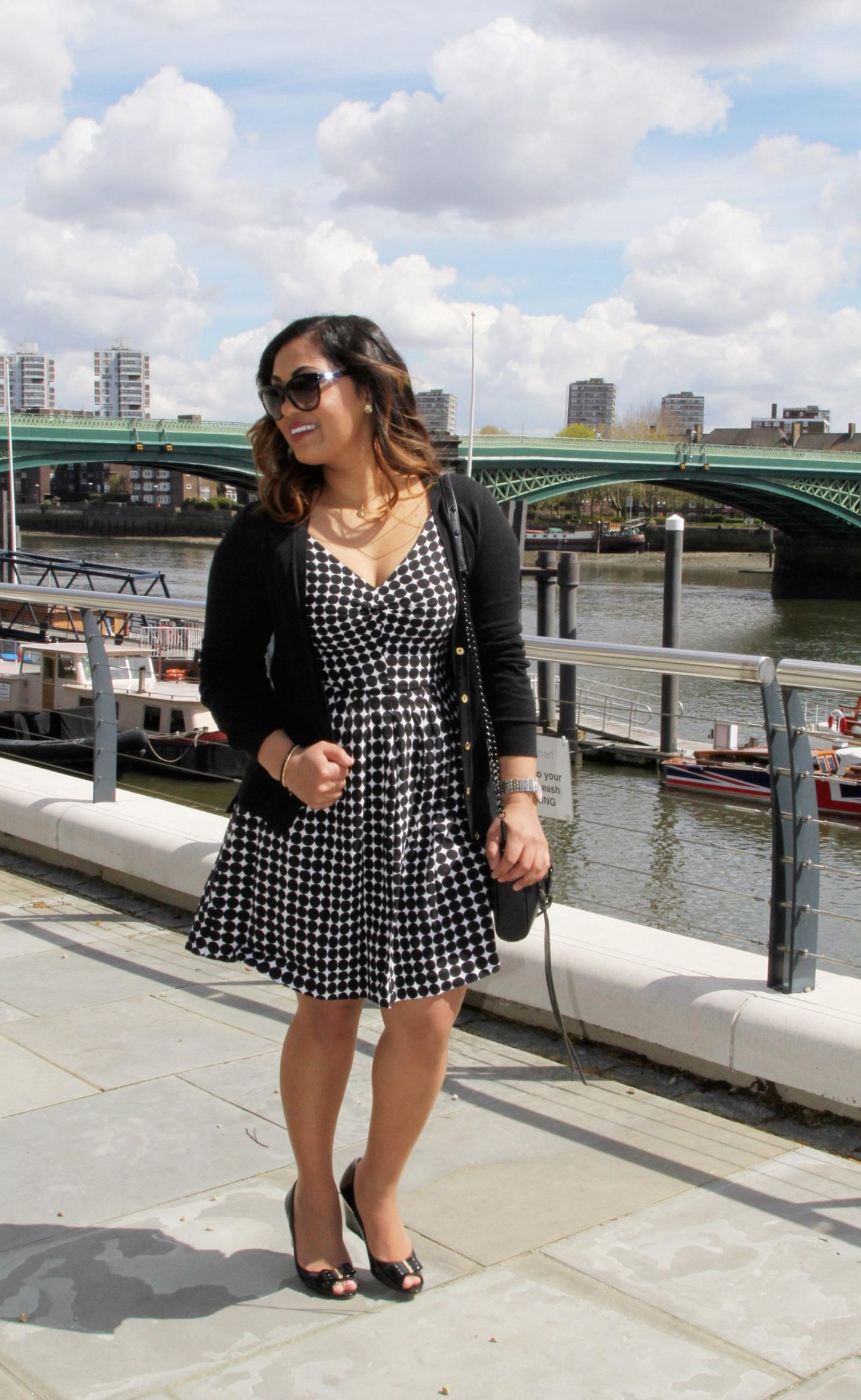 Black and White Summer Polka Dots