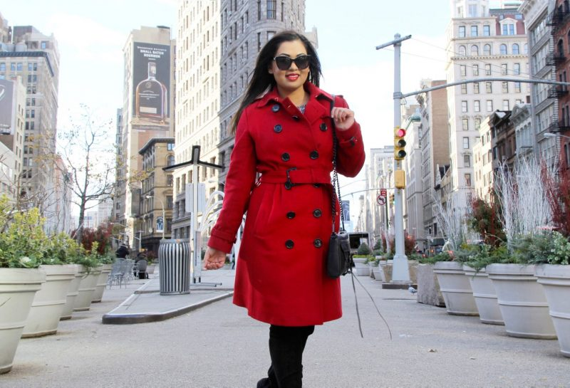 How to style a statement red coat