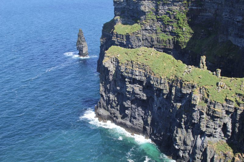 cliffs of moher with calm seas