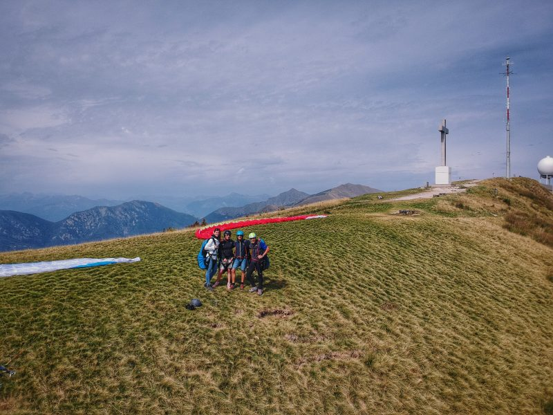 My first time paragliding with FlyTicino