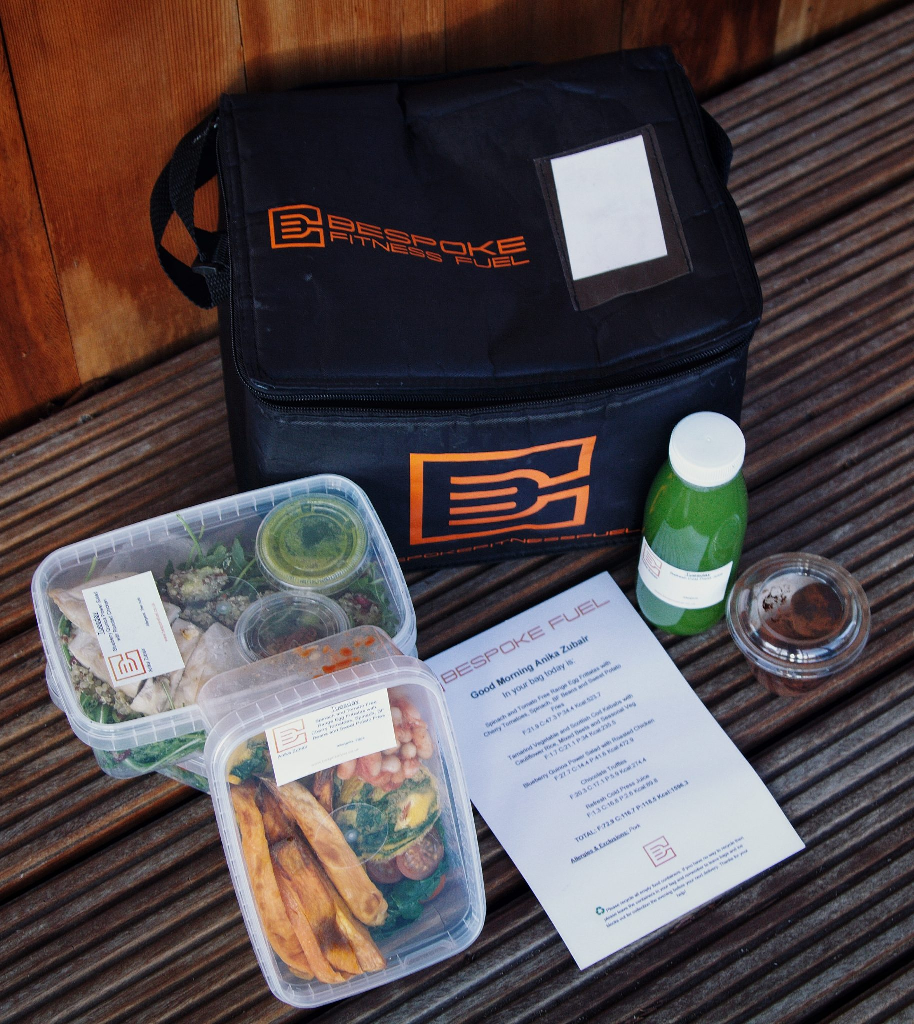 Bespoke Fuel - The healthier meal delivery service in London