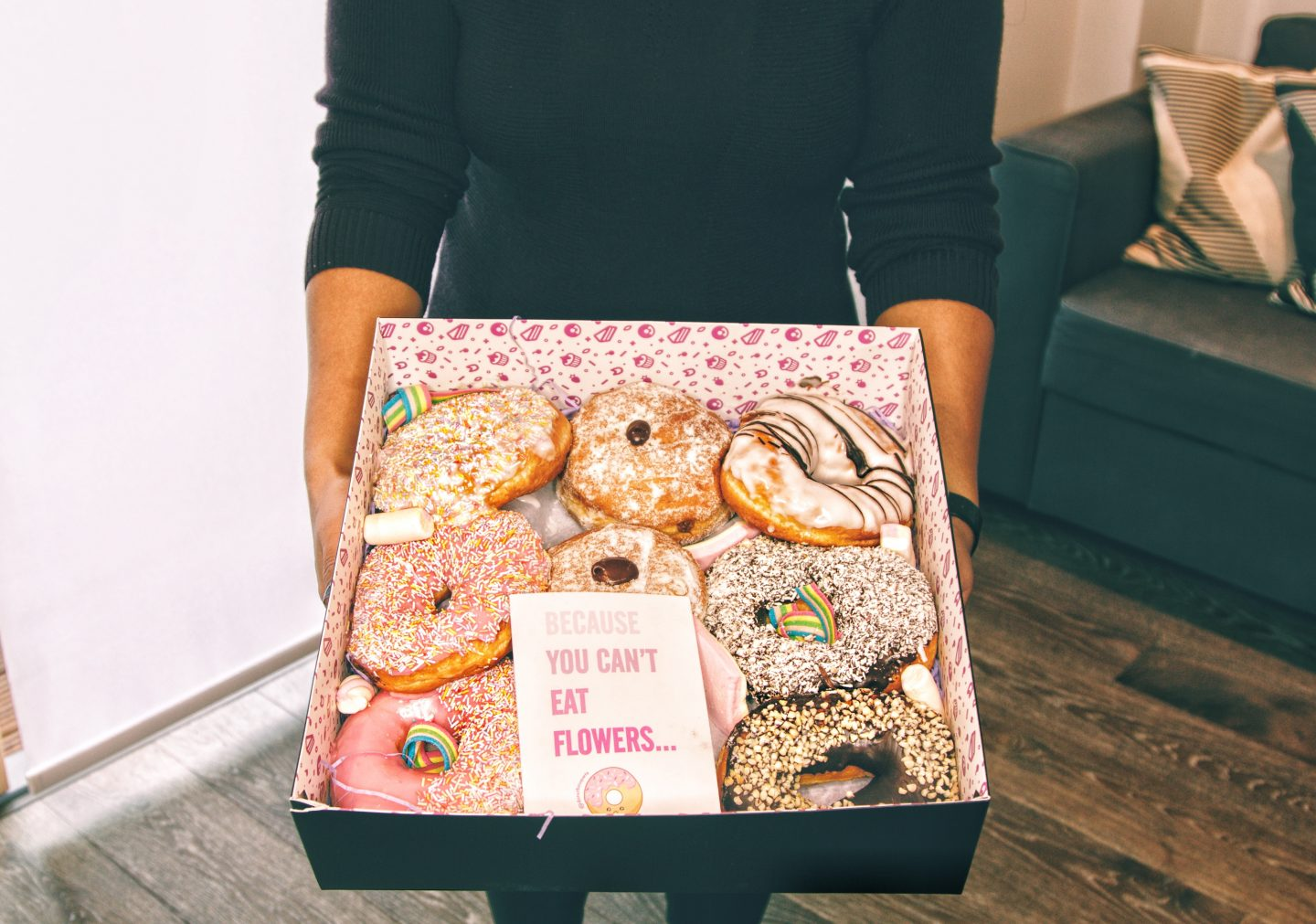 It's all about treating yourself to your own Donut Bouquet Treat Box!